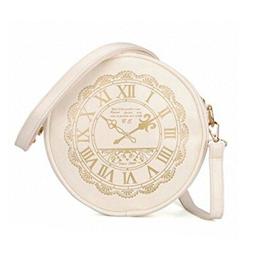 Schultertasche - TOOGOO(R) Damen Uhr neu Watch PU Leder suesse Kawaii Handtaschen Geldboersen Schultertasche weiss