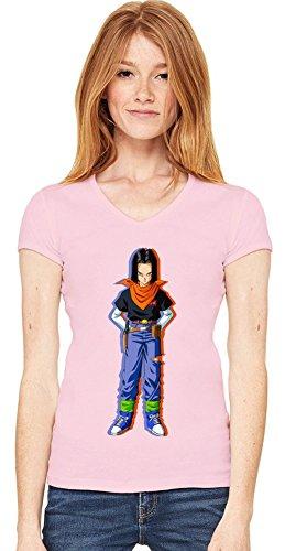 Android 17 T-shirt col V de la femme Small