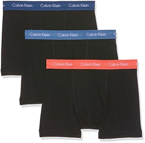 Calvin Klein Herren Boxershorts Cotton Stretch-3-Pack Trunk, 3, Blau (B-Henna, Victoria Blue, Airf Kgh), Large (Designer-unterwäsche)