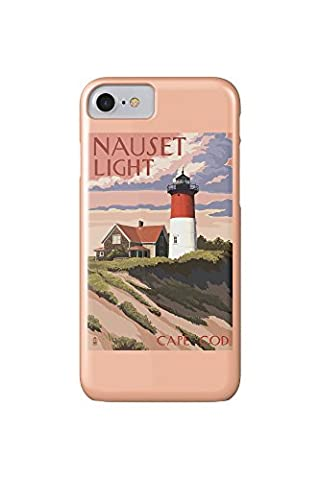 Cape Cod, Massachusetts - Nauset Light and Sunset (iPhone 7 Cell Phone Case, Slim Barely There) (Nauset Light Cape Cod)