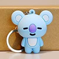 aixingwuzi BTS KeychainKpop BTS Bangtan Boys Cartoon Keychain Bag Pendant Keyring JIMIN JUNKOOK SUGA Plush Doll Key Ring( H07)