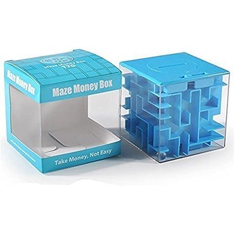 SainSmart Jr. Amaze CB-22 Cubo Del Laberinto Del Dinero Del Banco Y únicos Regalos Perfectos Para Los Niños-Satisfacción 100% Garantizada! (Azul)