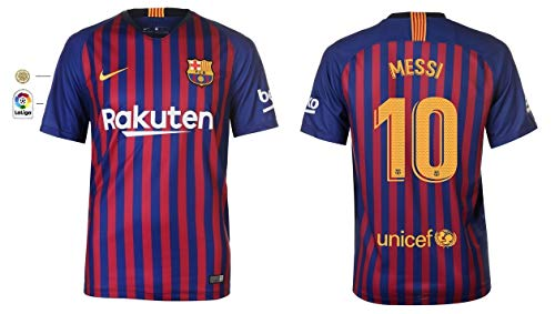 F.C. Barcelona Trikot Kinder 2018-2019 Home La Liga - Messi 10 (152)