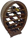 Mobile porta bottiglie cantinetta vino in legno 24 posti a botte per casa cantina cucina enoteca