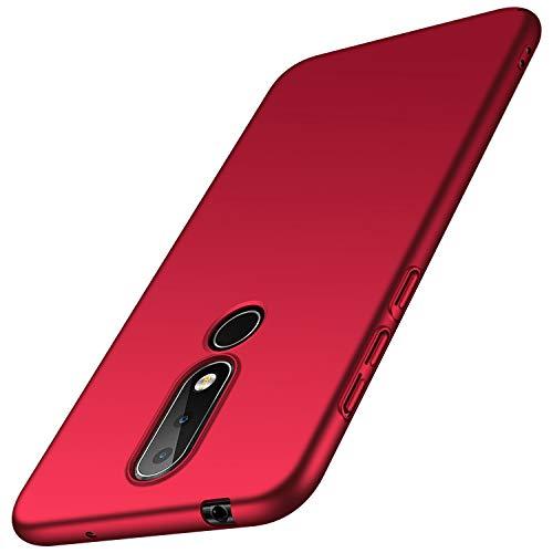 anccer Nokia 6.1 Plus Hülle [Serie Matte] Elastische Schockabsorption & Ultra Thin Design für Nokia 6.1 Plus (Glattes Rot)