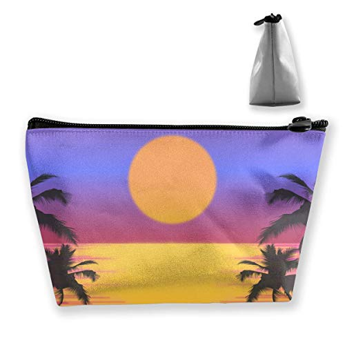 Trapez-Kulturbeutel Tragbare Reisetasche Tropical Tree Sunrise Clutch Bag - Sunrise Tree