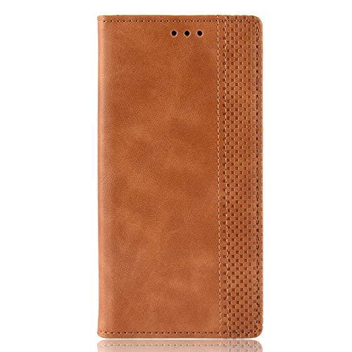 Dedux Hülle kompatibel mit Samsung Galaxy A50, Retro Leder Brieftasche Abdeckung Magnetverschluss Flip Folio Ständer Kartensteckplätze Handyhülle,Braun - Gebaut In Den Warenkorb