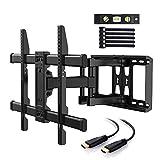Soporte de montaje en pared para TV Soporte de TV Brazo doble Soporte de pared para TV dinámico completo con brazos de bisagra giratorios para la mayoría de los LED de 37-70 pulgadas, LCD, pantalla