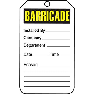 Accuform Signs TAB101CTP Barricade Status Tag, Legend