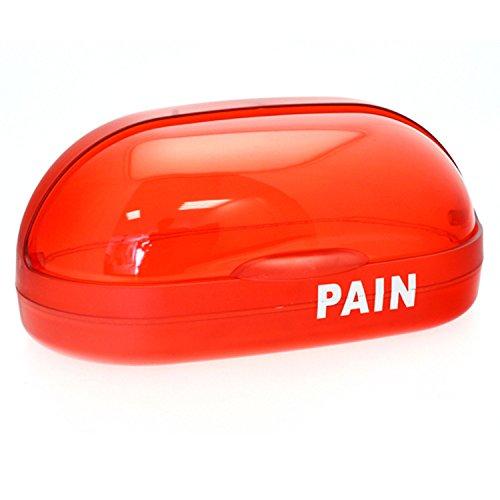 B&W Cuisine Boîte à Pain Arrondie - Rouge