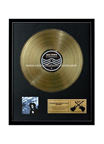 RGM1216 Jack White - Blunderbuss Gold überzogene 12 '' LP von Rock Guitar Miniatures