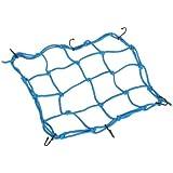 Cuerda elástica para moto casco Red de Carga 6Ganchos Equipaje Paquete Cargo Net carga Cover Cord Web -- Azul