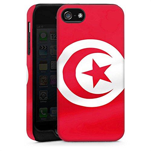 Apple iPhone 6 Housse Étui Silicone Coque Protection Tunisie Drapeau Drapeau Cas Tough brillant