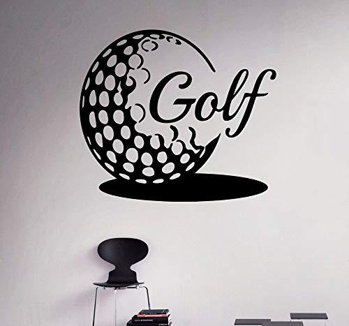 fancjj Golfball Wand Vinyl Aufkleber Golf Emblem Sport Wandaufkleber Home DIY Wand Innen Schlafzimmer Dekor Kunst Vinyl Wandbilder ADESIVO 57X65 cm