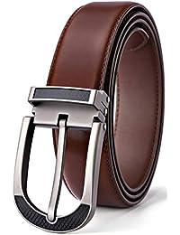 BULLIANT Hombre Cinturón, Cuero Cinturón per gli uomini 35MM,Tamaño Ajuste
