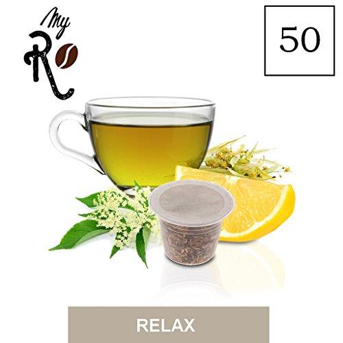 FRHOME - 50 Cápsulas de Tisana compatibles Nespresso - Tisana Relax - MyRistretto