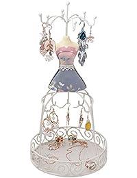 Soporte de la joyería/Display/Holder-Pendiente Collar de Las Pulseras del maniquí Los titulares de joyería Organizador Rack Torre Colgante con Ganchos (Color : A)