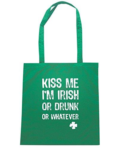 T-Shirtshock - Borsa Shopping TIR0056 funny kiss me im dark tshirt Verde