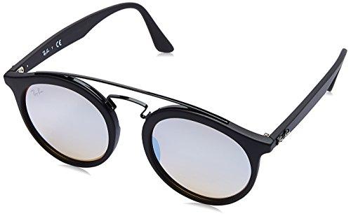 RAYBAN JUNIOR Unisex-Erwachsene Sonnenbrille Gatsby I, Matte Black/Mirrorgradientgrey, 49