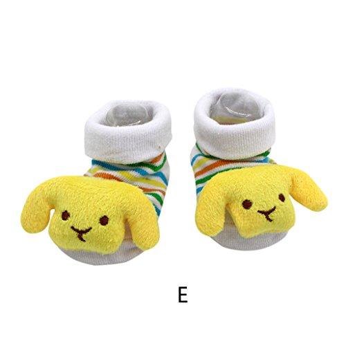 Preisvergleich Produktbild Vovotrade 15 verschiedene Karikatur Neugeborene Baby Jungen Anti Rutsch Socken Hefterzufuhr Schuh Aufladungen (E)