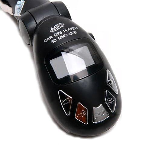 Sans Fil USB FM Transmetteur Voiture Auto MP3 Player Lecteur SD MMC Télécommande noir