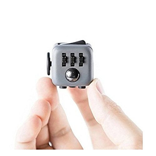 JuYi Fidget Toy Cube Relieves Stress and Anxiety for Children and Adults BlackRed