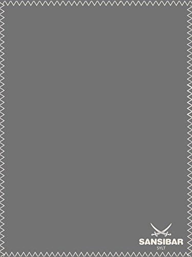 Zanzibar morbida coperta Divano coperta 150x 200cm uni con Logo sciabola 1001