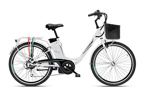 """Armony Firenze, Bicicletta Elettrica Unisex Adulto, Bianco, 24\"""""""