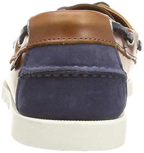 Sebago DOCKSIDES Herren Bootsschuhe Brown (Cognac Leather/Navy)