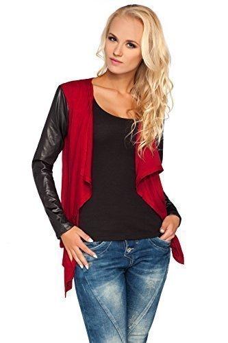 futuro fashion femme chic Pull-over Cardigan cascade effet mouillé manches coton BLAZER BOLERO style 8079 Pourpre