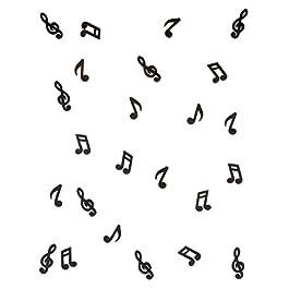 Generique – 24 Note Musicali in Legno Nero Taglia Unica