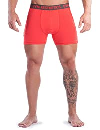 Gym Boxer Short rot-anthrazit | GYM AESTHETICS +