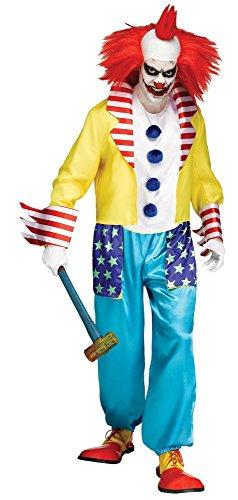 shoperama Wicked Clown Master Herren Kostüm Gr. L Horror Killer verrückter Evil ()