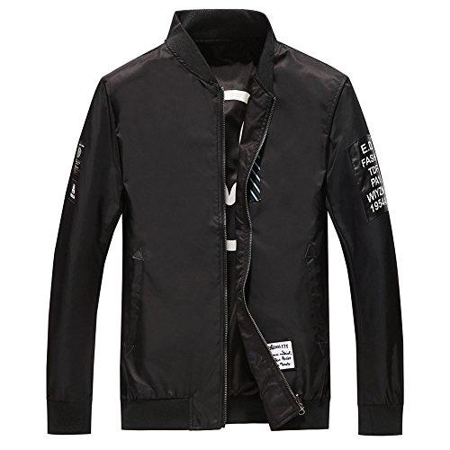 LaoZanA Chaqueta Bomber Jacket Cazadora Para Hombre Negro XL