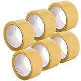 Alaskaprint 6 Rollen 48mm x 66m PP Transparent Paket Klebeband breit Packet Paketklebeband Paketband Kleberolle Packband für Päckchen und Kisten