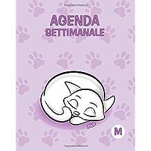 Agenda settimanale - M: Colore orchidea - Gatti - Perpetua (Senza date) - 15x19 cm