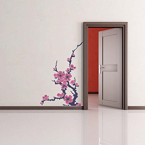 LaModaHome Dekorative Wand Aufkleber Vinyl Abnehmbare Wand Wandbild Aufkleber–(89,9x 130cm) –/Blume AST Blatt Natur Bonding/Art Home Decor Gemälde–Multi Varianten in Store.