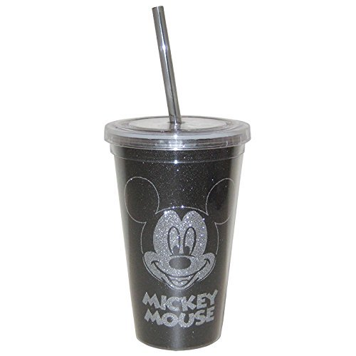 westland-giftware-disney-mickey-glitter-acrylic-tumbler-with-lid-and-straw-16-oz-multicolor