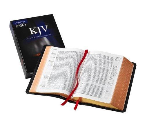 KJV Clarion Reference Bible, Black Edge-lined Goatskin Leather, KJ486:XE Black Goatskin Leather