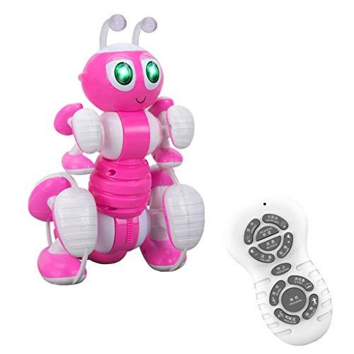 Multifunktions Fernbedienung Ant Toy Programmierbare Musik Dance Tell Story RC Spielzeug, QHJ Fernbedienung Spielzeug, Um Ihr Kind Geburtstags Geschenk, Weihnachts Geschenk (Rosa)