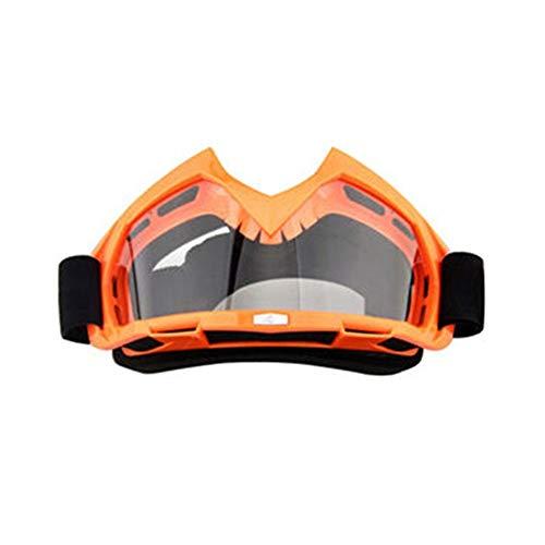 Tianzhiyi Glasdekoration Motorradbrillen Motocross Xinxun Sportbrillen Reitbrillen UV-Nebel-Schutz Winddicht Schutzbrillen für Outdoor Ski Snowmobile Fahrrad Motorrad (Color : Orange) (Kinder-ski-schutzbrillen, Klare Linse)