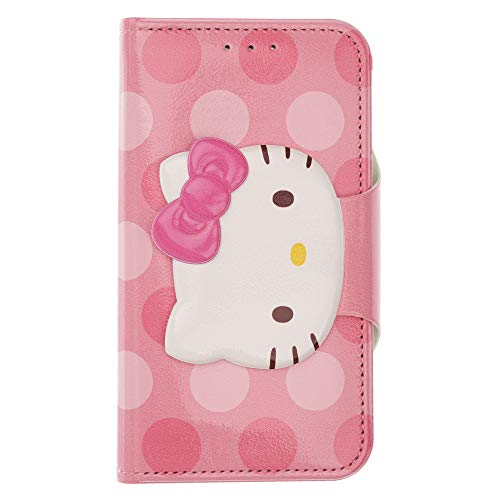 WiLLBee Sanrio Cute Flip Case für iPhone 6S Plus/iPhone 6 Plus, Face Button Hello Kitty Hot Pink (iPhone 6S Plus / 6 Plus)