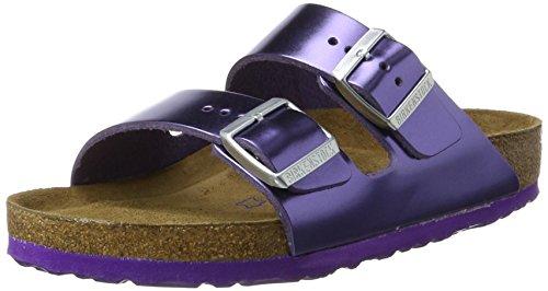 Birkenstock Arizona Leder Softfootbed, Ciabatte Donna Violett (Metallic Violet)