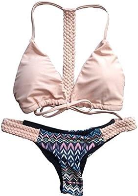 Moollyfox Halter Con Encanto Traje De Baño Bikini Brasileño De Mujer Bikini Tanga Swimsuit Push Up Beachwear Bañadores Mujer