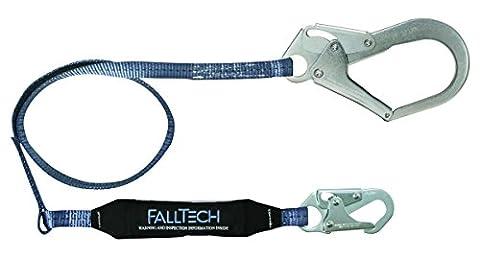 FallTech 82543ViewPack, Web SAL–Single Bein mit 1Karabinerhaken und 1, Mehrzweckmesser, Haken, 4', Blau/Schwarz