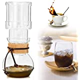 SLB Works 400ml Elegant Dutch Cold Brew Water Ice Drip Coffee Maker Glass Pot For 2 Cups For 2 Persons