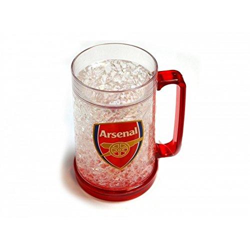Arsenal FC Offizieller Fußball-Gefrierschrank-Krug (Einheitsgröße) (Klar/Rot)
