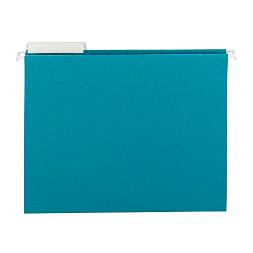 SMEAD Farbige Hängemappen mit 1/3-cut Tabs, Brief Größe, blaugrün, 25pro Box (64033)