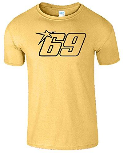 Nicky Hayden Frauen Der Männer Damen MOTO GP T Shirt Gänseblümchen / Schwarz Design