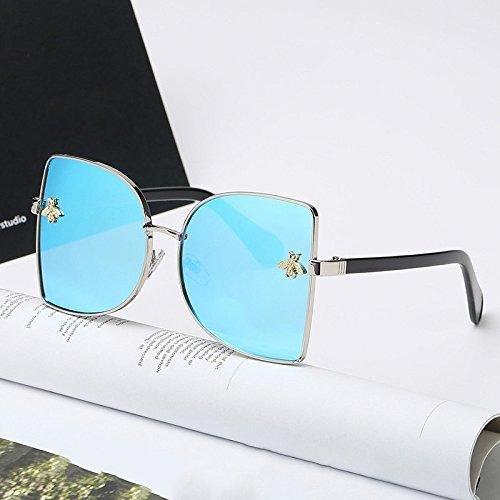 Sunglasses Retro Große Sonnenbrille Aus Metall Mit UV-Schutz Schwarz Super Sonnenbrille,8